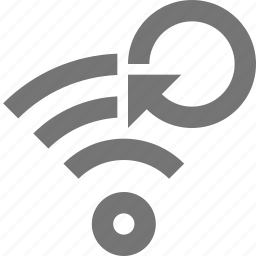 arrow, communication, network, refresh, reload, signal, sync, wifi icon
