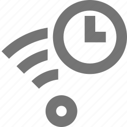 clock, communication, connection, network, signal, time, wifi icon