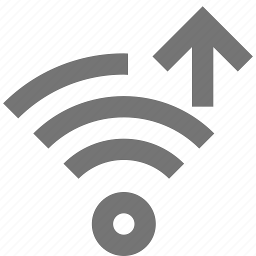 arrow, signal, up, upload, wifi icon
