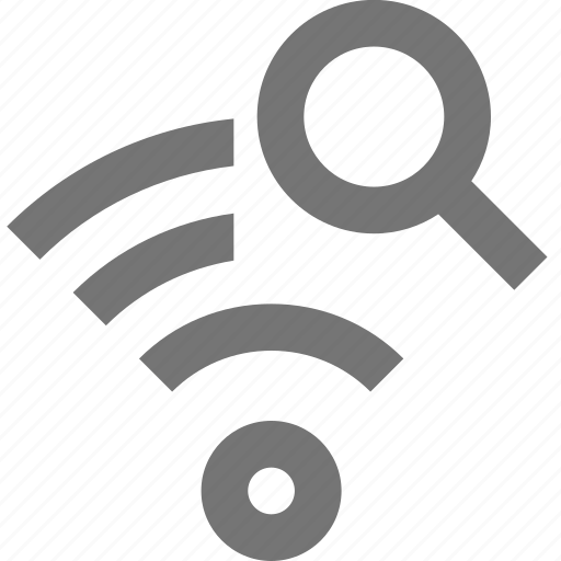 magnify, search, signal, view, wifi icon