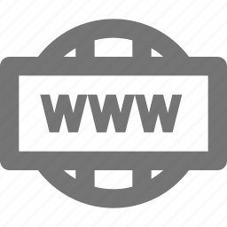 world wide web, www icon