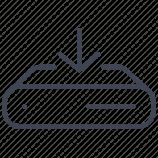 arrow, data, down, download, network, server, storage icon