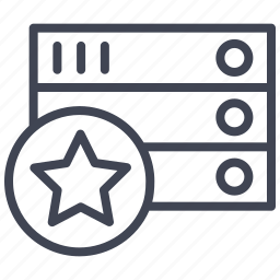data, database, favourite, rack, star icon