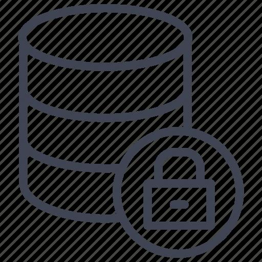 data, database, lock, locked, network, security icon