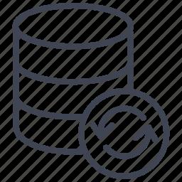 data, database, network, refresh, reload, storage, sync icon