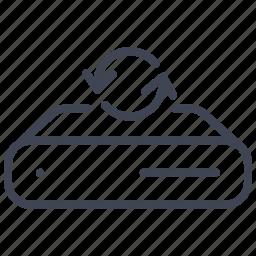 database, network, refresh, reload, server, storage icon
