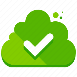 approve, cloud, confirm, network, storage icon