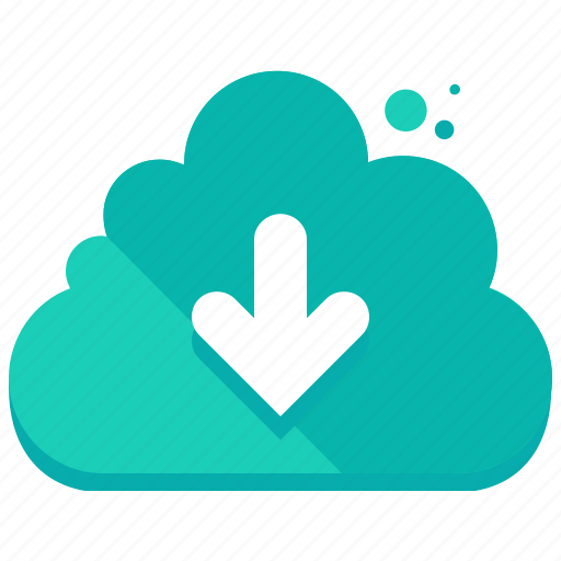arrow, cloud, down, download, network, storage icon