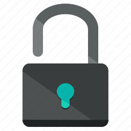 lock, network, safety, security, unlock icon