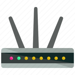 communication, device, internet, modem, network, wifi icon