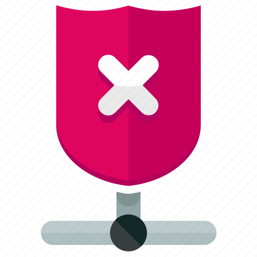 cancel, network, safety, security, shield icon