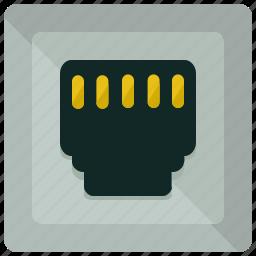 communication, internet, network, port, telephone icon
