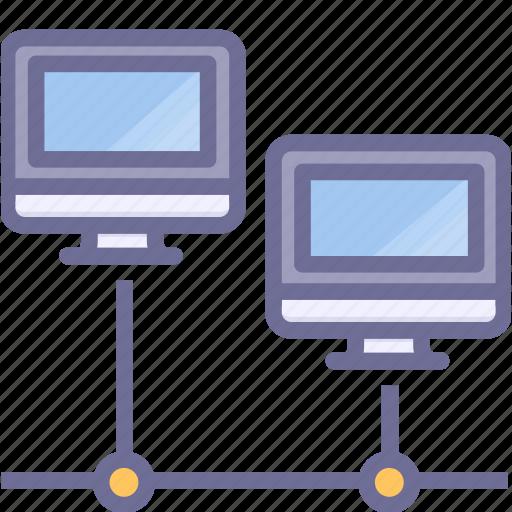 computers, intarnet, lan icon