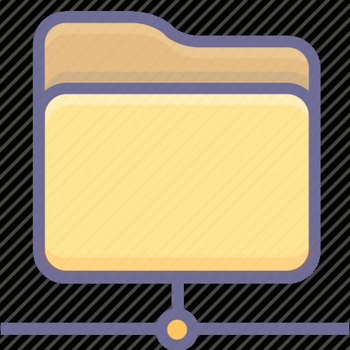 folder, internet, network icon