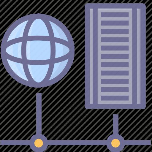 earth, internet, network, server, web icon