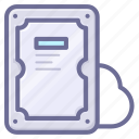 cloud, hard disk, space, storage icon