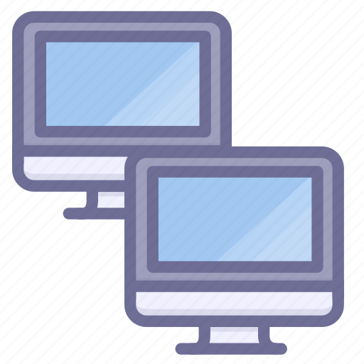 computers, intranet, lan icon