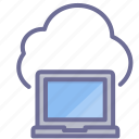 cloud, computer, laptop icon