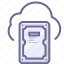 cloud, hard disk, harddisk, storage icon