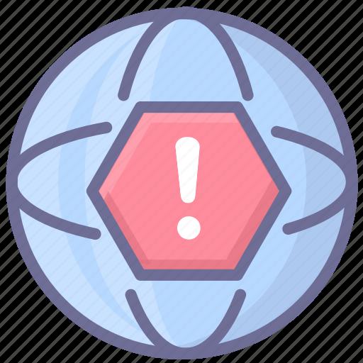 internet, network, warning icon