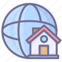 home, internet, network icon