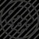 cloud, cog, gear, internet, management, share, wheel