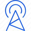 communication, connection, internet, network, server, tower, wifi icon