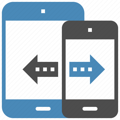 connection, data, device, mobile, sync, tablet, transfer icon