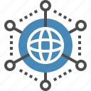 communication, connection, global, international, internet, link, network icon