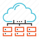 cloud, data, database, distributed, server, storage, upload icon