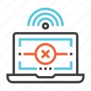 communication, connection, error, internet, network icon