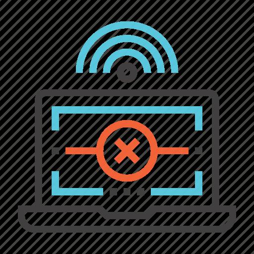 communication, connection, error, internet, network icon