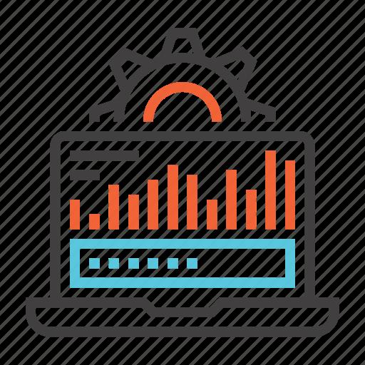 data, database, hosting, network, processing, server icon