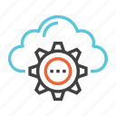 cloud, computing, database, network, server, storage, upload icon