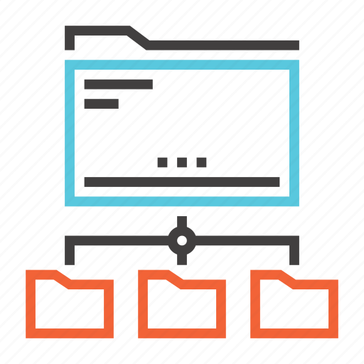 document, extension, file, folder, format, network, storage icon