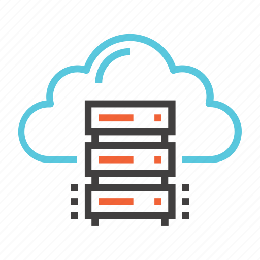 cloud, database, hosting, media, network, server, storage icon