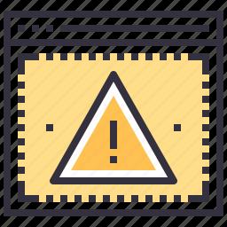 access, alert, denied, error, virus, warning, web icon