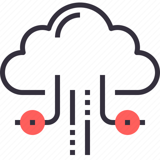 cloud, computing, hosting, internet, network, services, storage icon