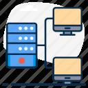 data hosting, data storage, database network, datacenter network, dataserver, network, sharing icon