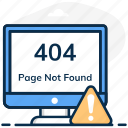 404 website, error 404, found, missing webpage, not, page, page not found icon