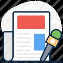 broadcasting, press media, press release, press, news media, media, journalism icon