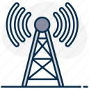 radio tower, signal tower, frequency tower, antenna tower, radio, wireless tower, tower icon