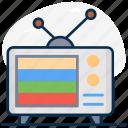 television, retro screen, vintage tv, retro tv, broadcast media, tv antenna icon