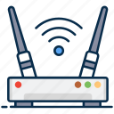 access router, wifi, modem, network router, wifi router, router, wireless broadband icon