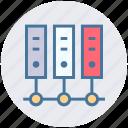 communication, data center, database, hosting, network, server, storage icon