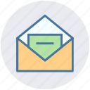 e-mail, envelope, letter, mail, message, paper, post icon