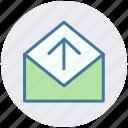 arrow, e-mail, envelope, letter, mail, message, send icon
