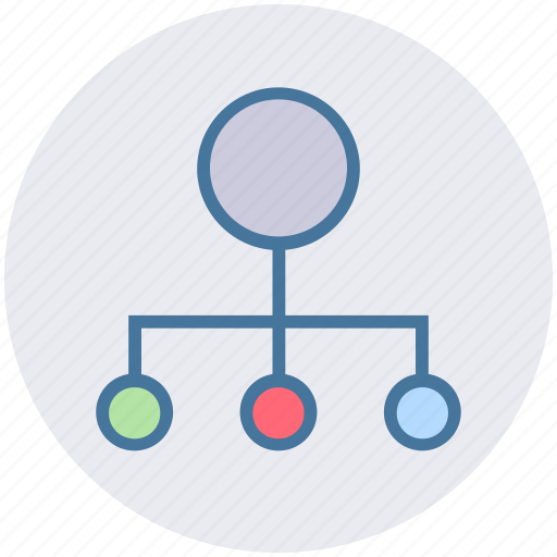 communication, connection, hierarchy, network, sharing, structure icon