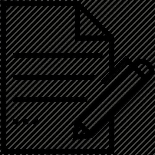 paper, pen, sheet, signature, writing icon