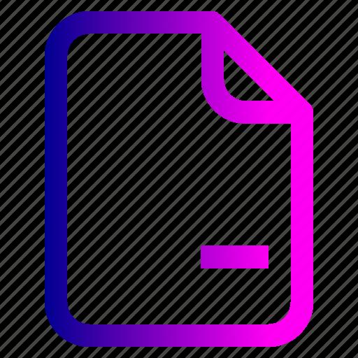 cancel, document, file, important, memo, paper, remove icon